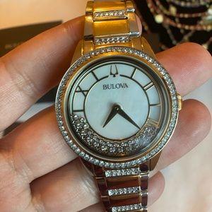 New bulova watch with crystal